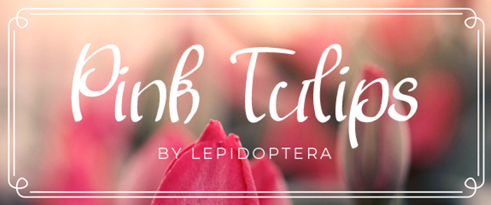 Pink Tulips 2 Font poster