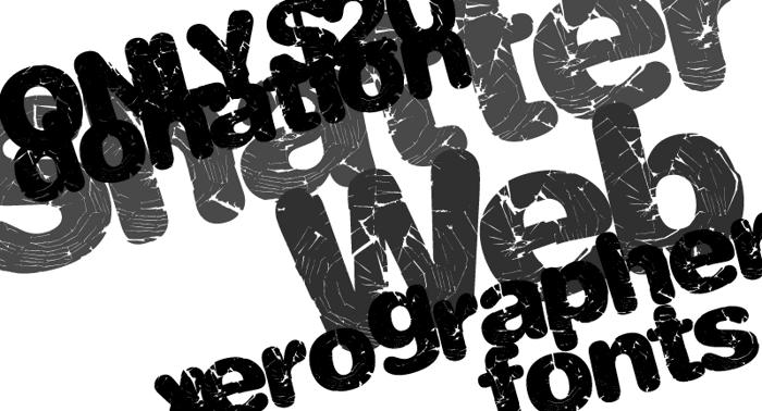 ShatterWeb Font poster