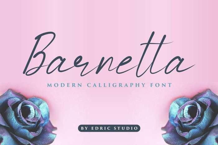 Barnetta Font poster