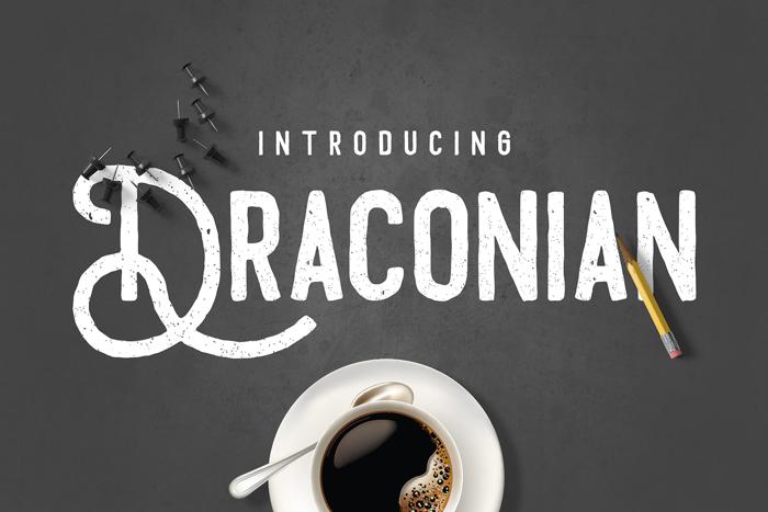 Draconian Font poster