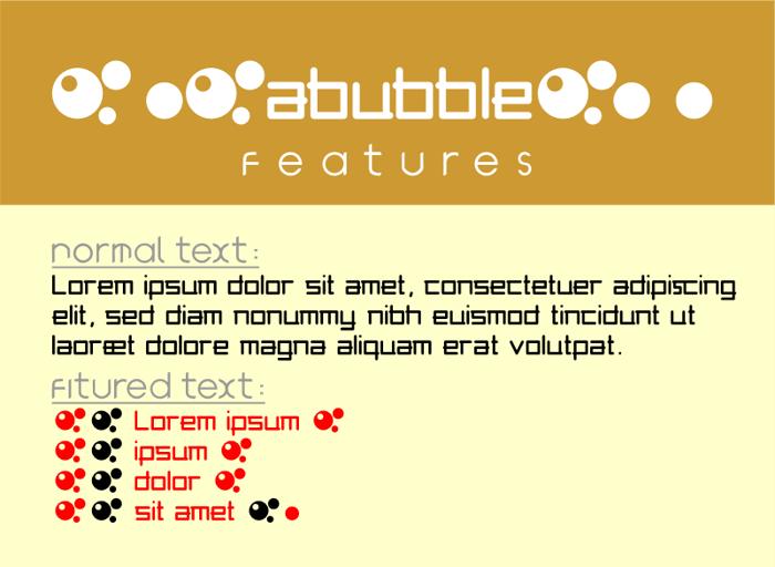 abubble Font poster