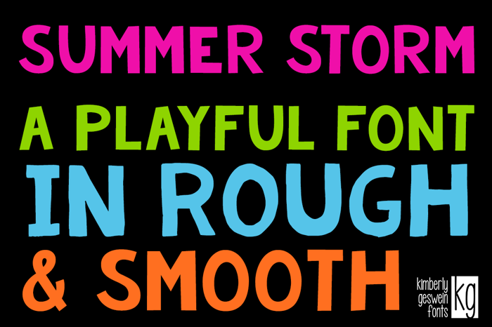 KG Summer Storm Rough Font poster