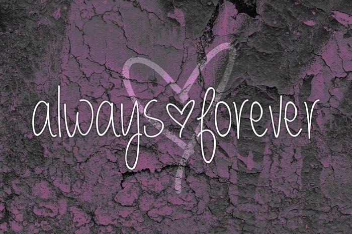 always  forever Font poster