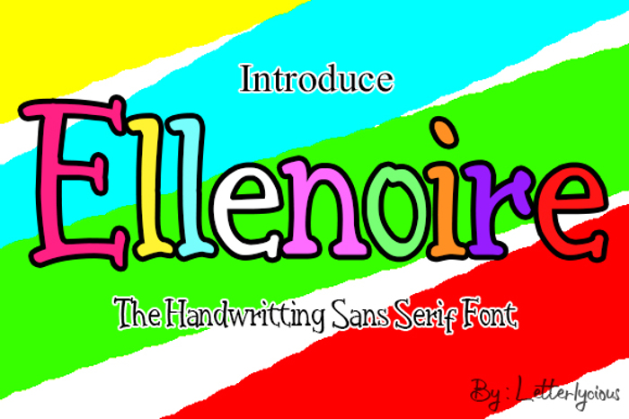 Ellenoire Font poster