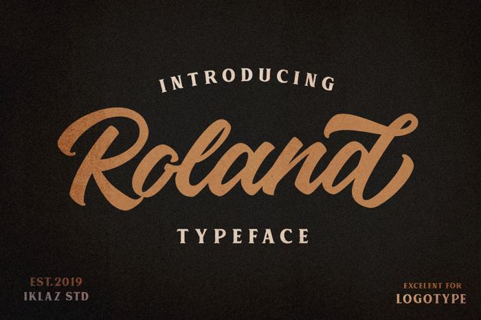 Roland Font poster