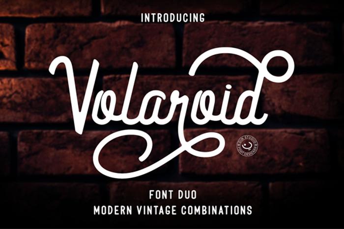 Volaroid Script Font poster