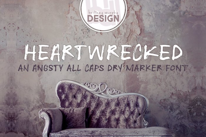 Heartwrecked Font poster