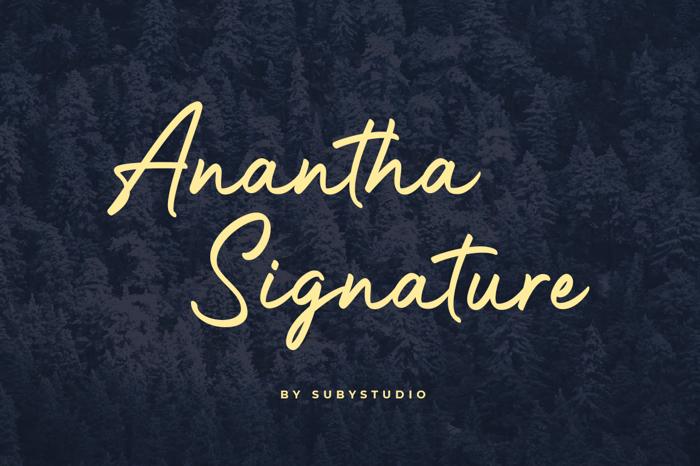 Anantha Signature Font poster
