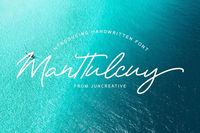 Manttulcuy Font poster
