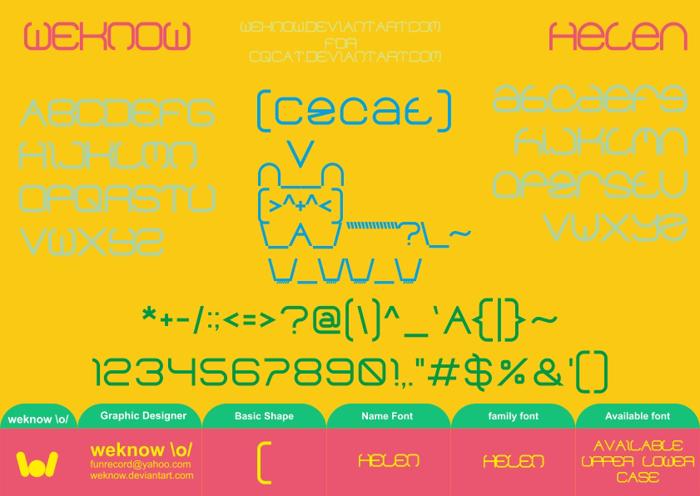 helen Font poster