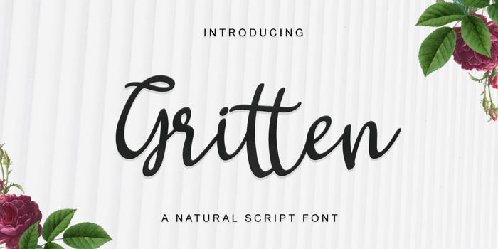 Gritten Font poster