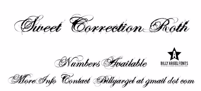 SWEETCORRECTION ROTH Font poster