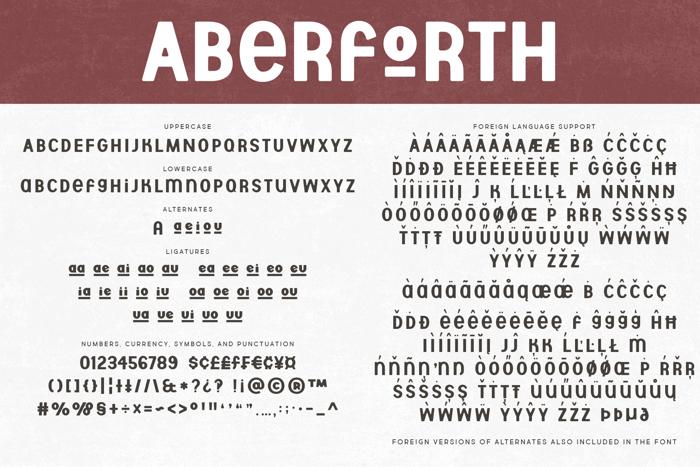 Aberforth Font poster