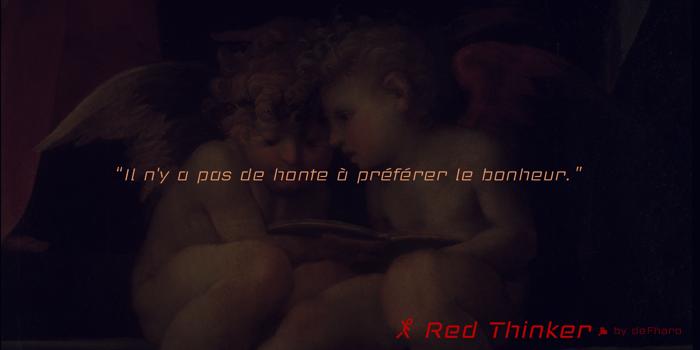 Red Thinker Light Font poster