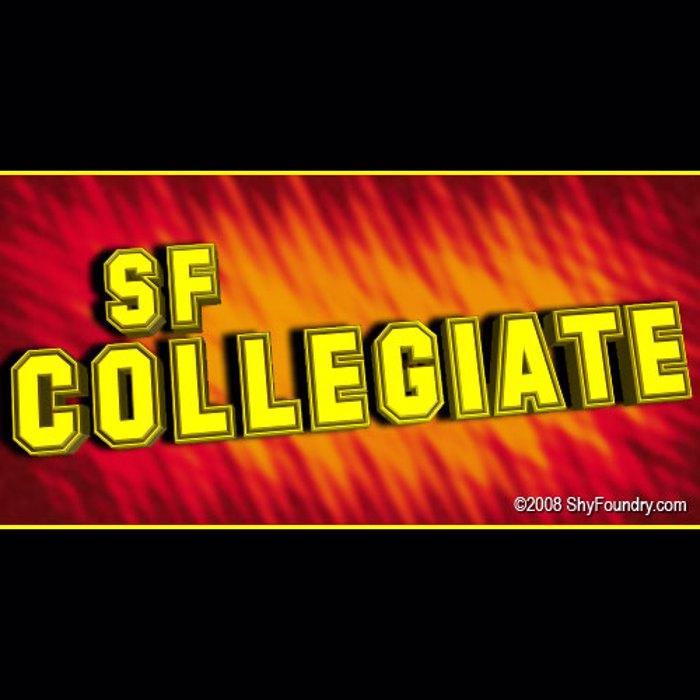 SF Collegiate Font poster