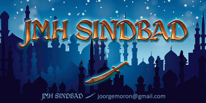 JMH Sindbad Font poster