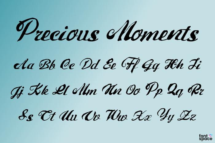 Precious Moments Font poster