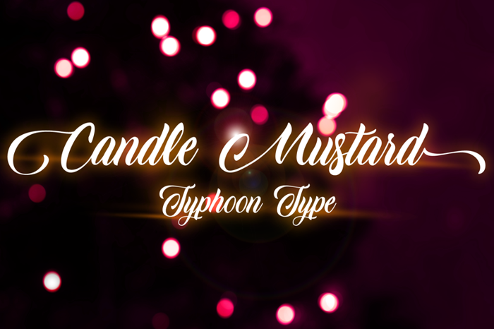 Candle Mustard Font poster