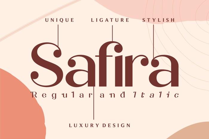 Safira Font poster