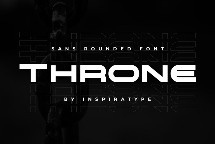 THRONE Font poster