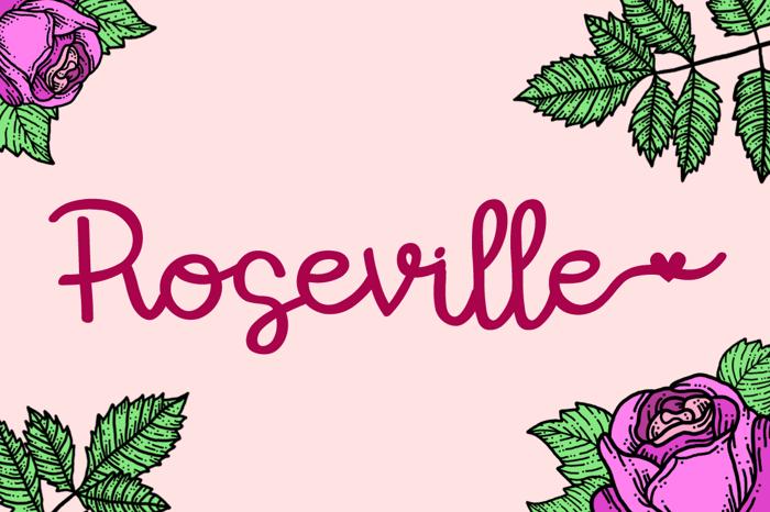 Roseville Font poster