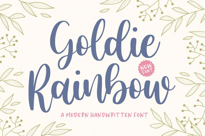 Goldie Rainbow Font poster