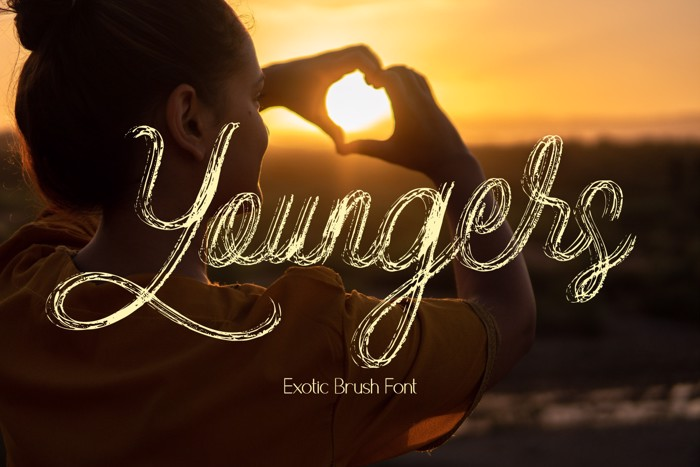 Youngers Font poster