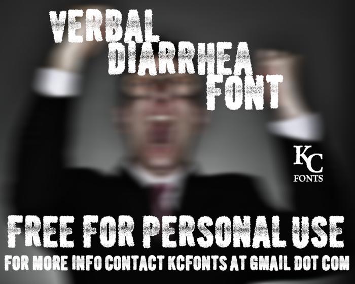 Verbal Diarrhea Font poster