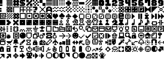 Pixel Dingbats-7 Font poster