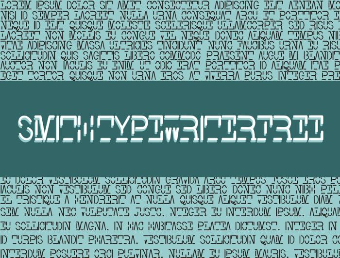 Smith-TypewriterFree Font poster