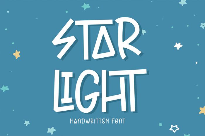 Star Light Font poster