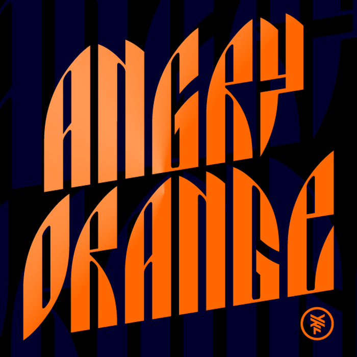 Angry Orange Font poster