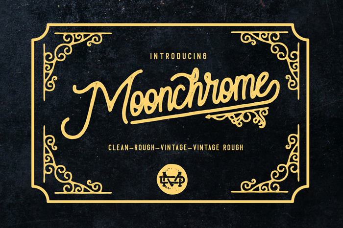 Moonchrome  Rough Font poster