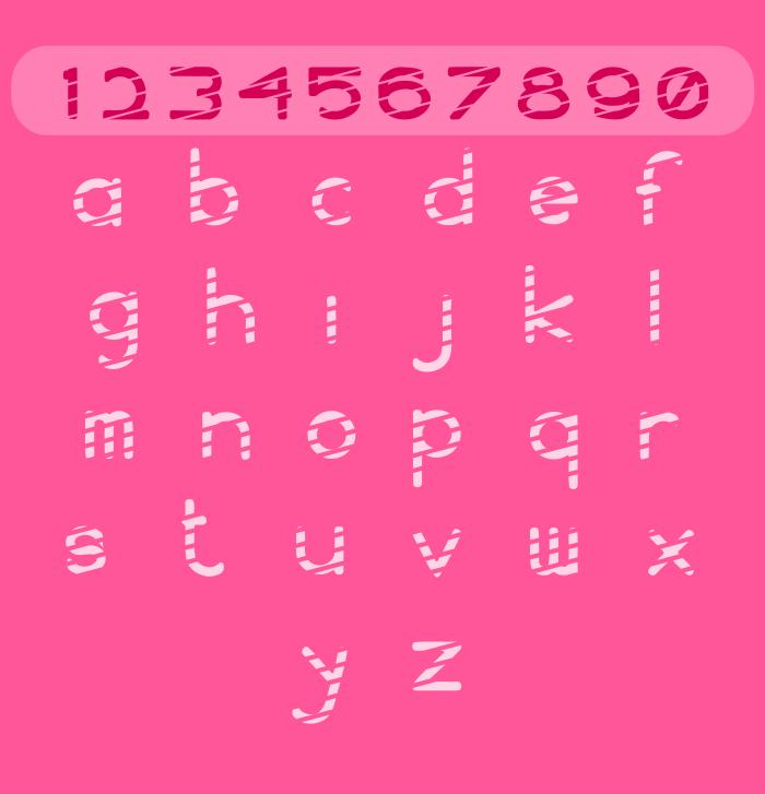 WS Stripe Font poster