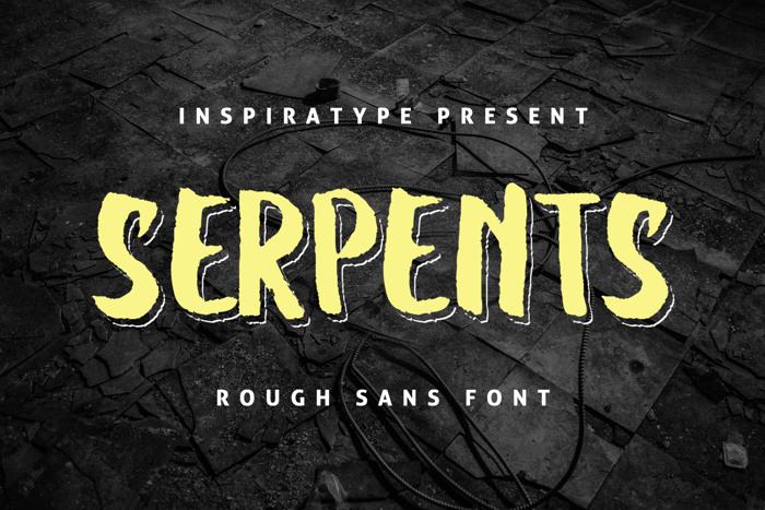 SERPENTS Font poster