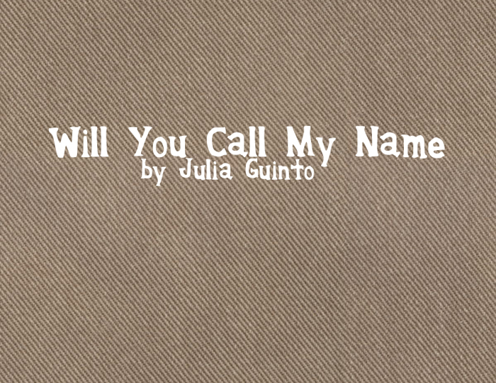 WillyouCallmyName Font poster