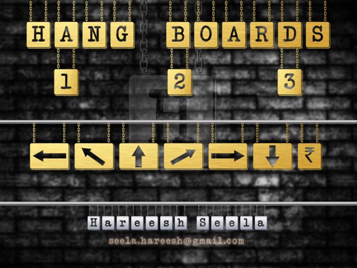 HANG BOARD 123 Font poster