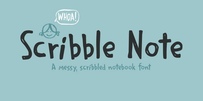 Scribble Note Font poster