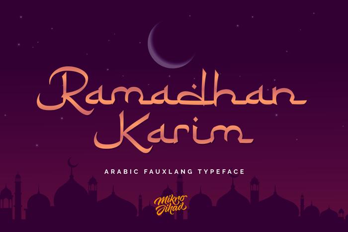 Ramadhan Karim Font poster