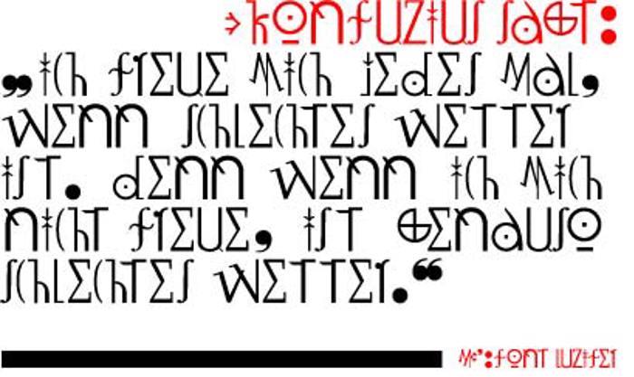 LuziFer Font poster