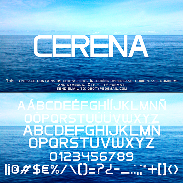 Cerena Font poster