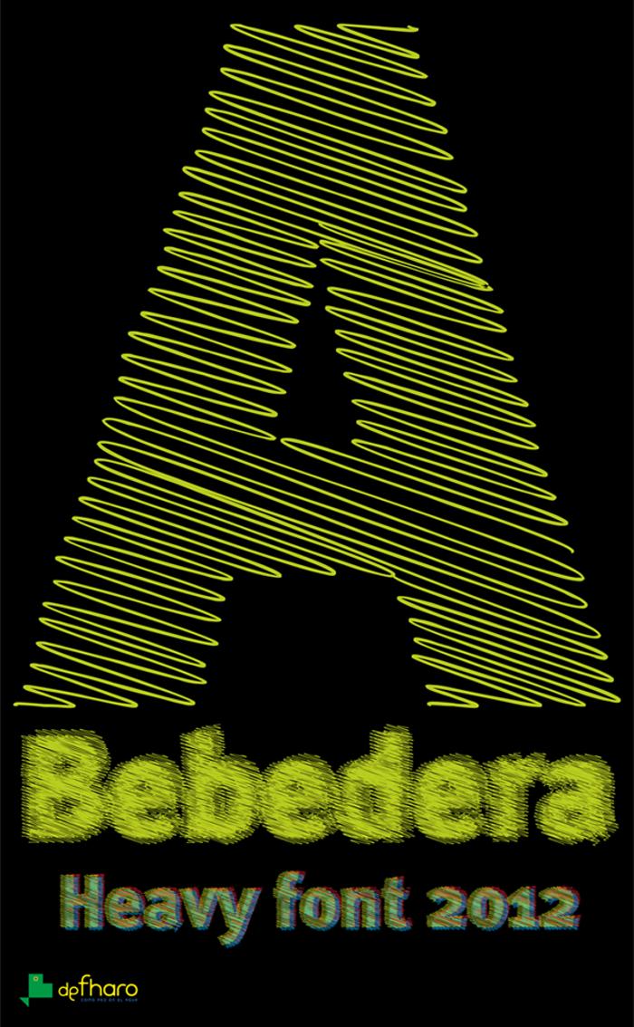 A Bebedera Font poster