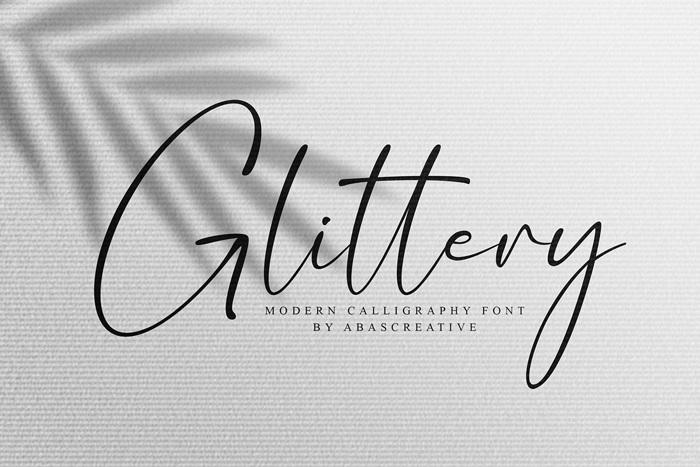 Glittery Font poster
