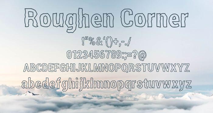 Roughen Corner Font poster