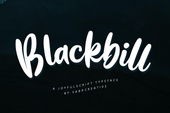 Blackbill Font poster