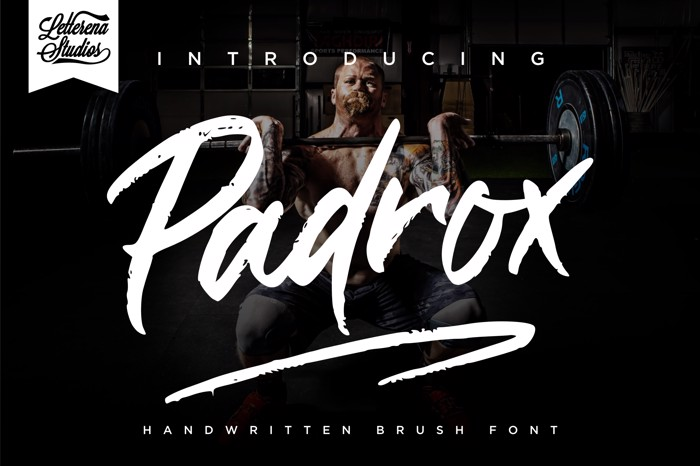 Padrox Font poster