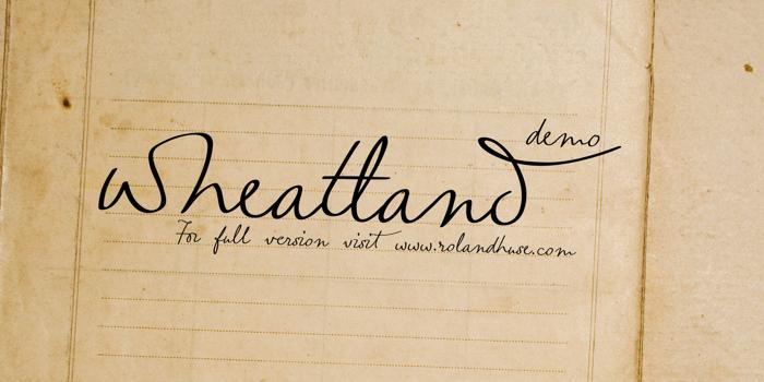 wheatland-demo Font poster