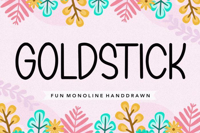GOLDSTICK Font poster