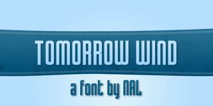 Tomorrow Wind Font poster
