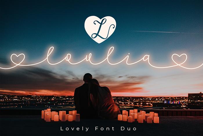 Lovlia Font poster